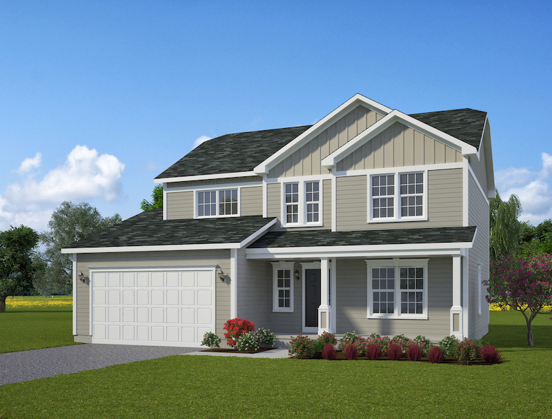 The Oaks - 2 Story Colonial, 4 Bedrooms 2.5 Baths 2,288 Sq. Ft.